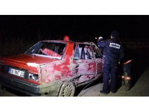 Ankara'da Otomobil Şarampole Yuvarlandı: 1 Ölü, 4 Yaralı