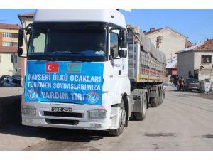 Pınarbaşı'ndan Türkmenlere yardım