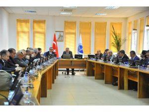 Azerbaycan Devlet İktisat Üniversitesi Heyetinden Muzaffer Elmas'a Ziyaret