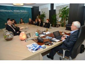Nilüfer Kent Konseyi'nin Yeni Yönetiminden Bozbey'e Ziyaret