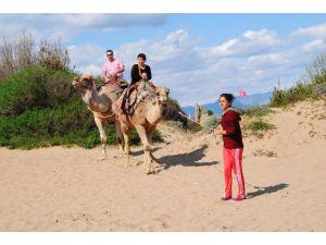 Rus turist azlığı antik kentte deve turlarını bitirdi