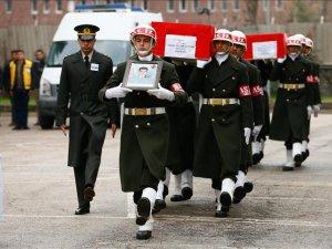 Şehitler Özatak ve Biçakcı için tören düzenlendi