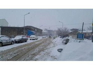 Sincik İlçesinde Kar Yağışı Başladı