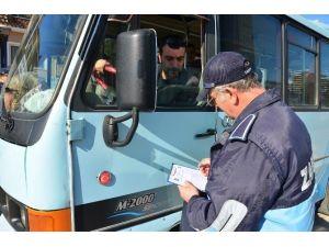 Zabıta Ekipleri Toplu Taşıma Araçlarını Denetledi