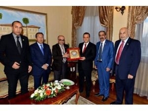 Arap Turizm Örgütü Heyetin'den Vali Türker'e Nezaket Ziyareti