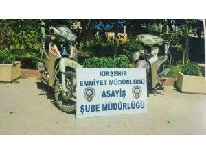 Kırşehir'de motosiklet hırsızları yakalandı, GPS'li motor bulunamadı