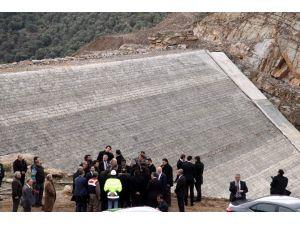 Bakan Eroğlu, Gökbel Barajı'nda İncelemelerde Bulundu