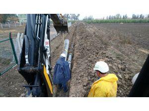 ASKİ ekipleri Karataş'ta altyapı çalışması yapıyor