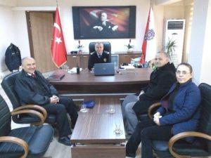 Burhaniye'de Emniyet Müdürüne Ziyaretçi Akını