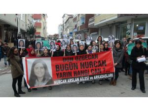 Nurcan Arslan cinayeti protesto edildi