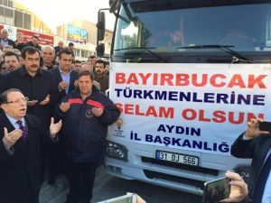 AK Parti Öncülüğünde Toplanan Yardımları Taşıyan Tır Dualarla Yola Çıktı