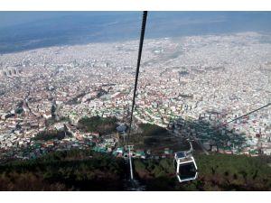 Teleferikten Bursa manzarası