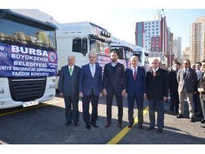 Samdef Ve Büyükşehir Belediyesi'nden Türkmenlere Yardım