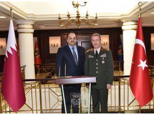 Katar Savunma Bakanı'ndan Genelkurmay Başkanı'na ziyaret
