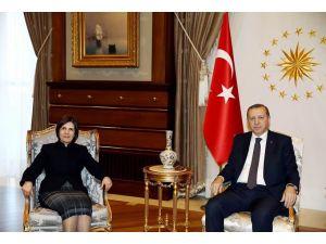 KKTC Meclisi Başkanı Siber, Cumhurbaşkanı Erdoğan ile görüştü