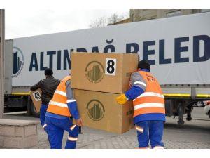 Altındağ Belediyesi'nden Bayırbucak Türkmenlerine Yardım Tır'ı