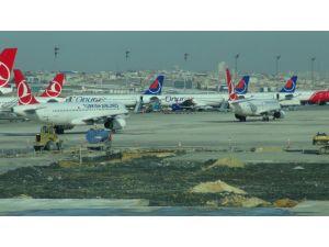 Havalimanında tehlikeli manevra