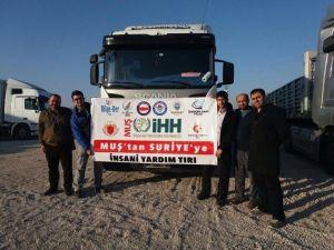 Muş'tan Suriye'ye Yardım