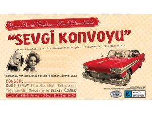 Yeşilçam klasiği filmlerin otomobil ve şarkılarıyla 14 şubat kutlaması