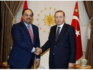 Cumhurbaşkanı Erdoğan Katar Savunma Bakanı Atiyah'ı Kabul Etti