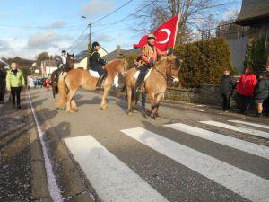 Belçika'nın Faymonville karnavalında yine Türk bayrağı dalgalandı