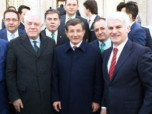 Bursaspor Yöneticileri, Başbakan Ahmet Davutoğlu'nu Ziyaret Etti