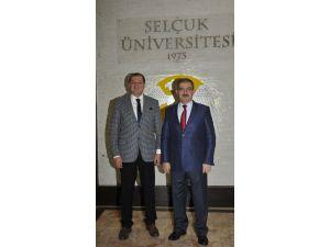 Başkan Şahin'den Rektör Şahin'e ziyaret