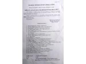 Balbay'dan Milli Anayasa Platformu açıklaması