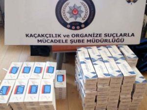 Gölbaşı'nda 2 bin 500 paket kaçak sigara ele geçirildi