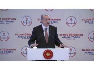 Erdoğan: Son atamalarla öğretmen sayısı 923 bine çıktı