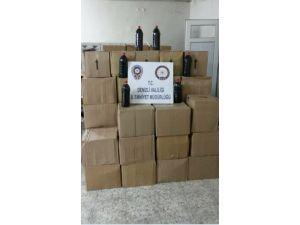 Denizli'de 700 litre kaçak içki ele geçirildi