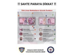 Polisten Sahte Para Uyarısı