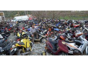 Ortaca'da Motosiklet Mezarlığı Oluştu