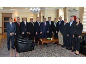 İTSO yönetimi Emniyet Genel Müdürü Lekesiz'i ziyaret etti