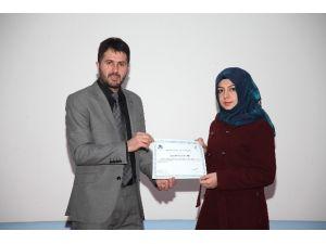 Ağrı İbrahim Çeçen Üniversitesinde Sertifika Töreni