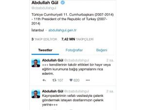 11. Cumhurbaşkanı Abdullah Gül'den Cenazede Çelenk Ricası