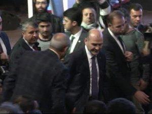 Erdoğan'a çirkin hakaret Soylu salonu terk etti