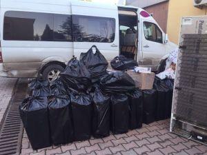 Sakarya'da 16 Bin 700 Paket Kaçak Sigara Ele Geçirildi
