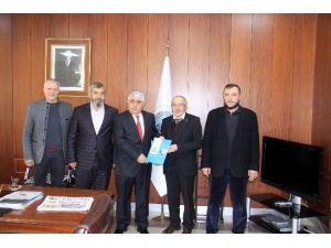Beşir Derneği Üyeleri Sorgun Belediye Başkanı Ahmet Şimşek'i Makamında Ziyaret Etti