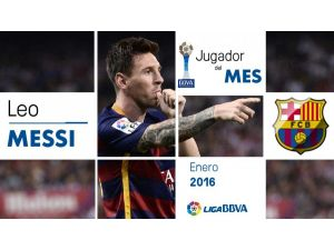 La Liga'da Messi ilk kez ayın oyuncusu seçildi