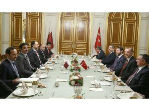 Cumhurbaşkanı Erdoğan, Katar Emiri Şeyh Temim ile Görüştü