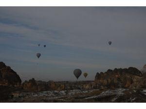 Kapadokya'da balonlar havalanamadı