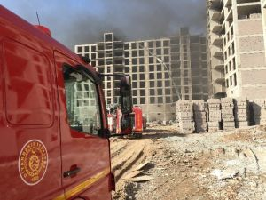 Diyarbakır'da İnşaatta Yangın