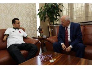 Azimli Kulaçtan Yenimahalle Belediye Başkanına Ziyaret