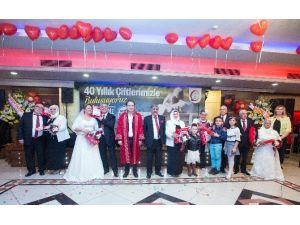 40 Yıllık Evli Çiftler Sevgililer Günü'nde Nikah Tazeledi