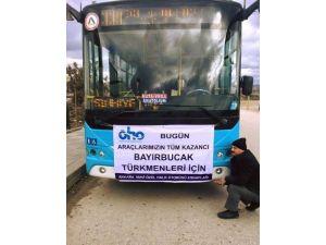 Bayırbucak Türkmenleri'ne Yardım Toplayan Otobüse Çirkin Saldırı
