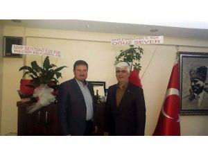 MHP Seyitgazi İlçe Başkanı'ndan Tuhafiyeciler Ve İşportacılar Odasına Ziyaret