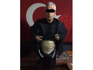Erzurum'da 1 Kişi Vücuduna Sardığı Eroinle Yakalandı