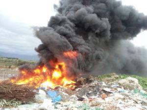 Edremit Çöplüğünde Yangın