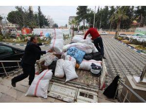 Düziçi'nden Suriyeliler İçin Toplanan Yardımlar Teslim Edildi